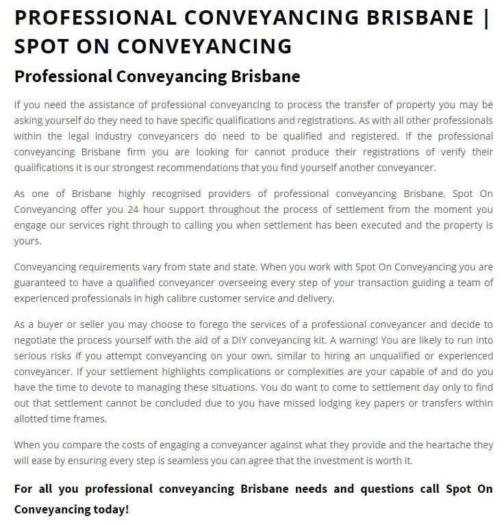 Httpspotonconveyancingprofessional conveyancing httpspotonconveyancingprofessional conveyancing brisbane spot on conveyancing legal news from spot on conveyancing pinterest solutioingenieria Image collections