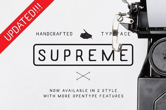 Supreme Handcrafted Typeface by akufadhl on @creativemarket