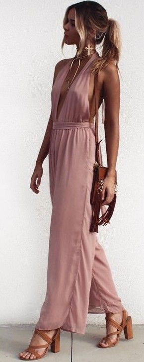 Pink Jumpsuit                                                                             Source