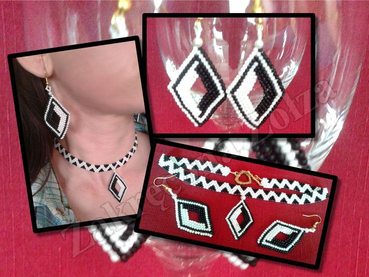 komplet kolczyki i naszyjnik/a set of earrings and necklace