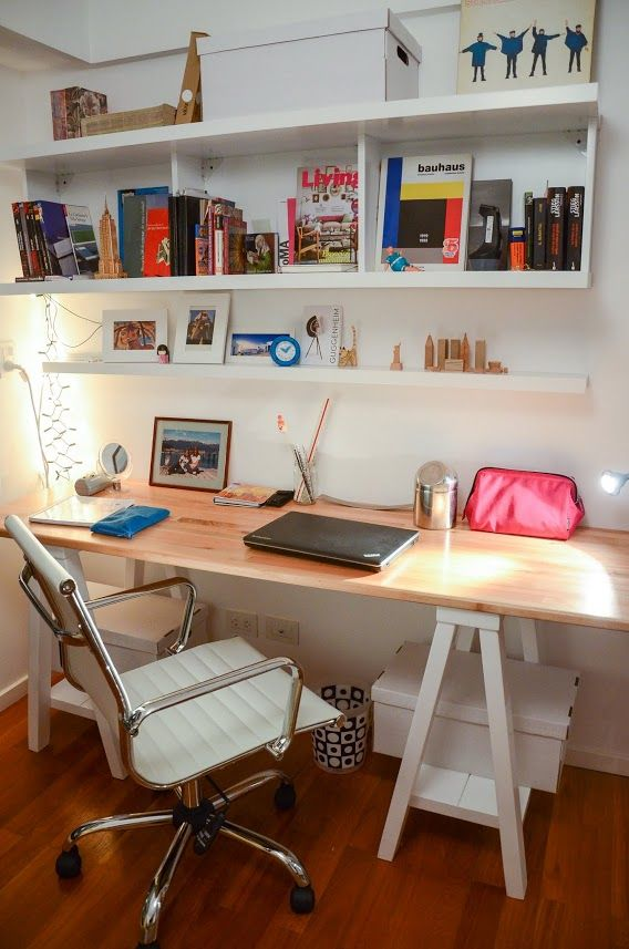 Desk in home office