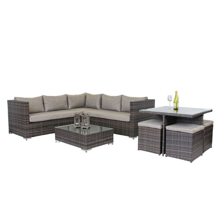 VALEN9PCLD Valencia 9 Piece Lounge & Dining Setting