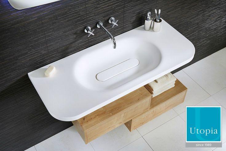 Wooden en suite bathroom furniture from Utopia Bathrooms.