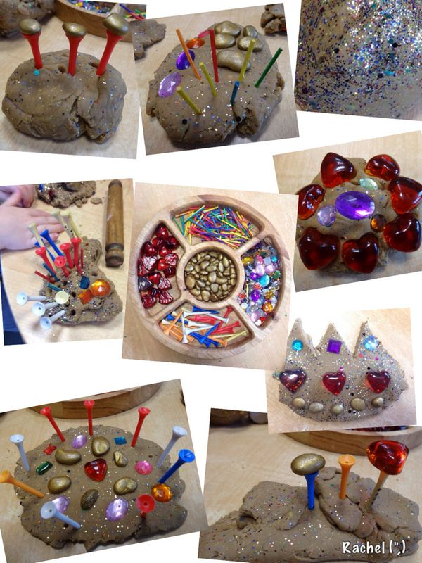 """Sparkly dough & loose parts - from Rachel ("""",)"""
