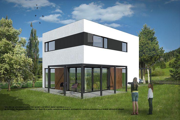 Typový projekt dvoupodlažního rodinného domu o velikosti bytové jednotky 5+kk, je větším rodinným domem vhodný pro rovinatý nebo mírně svažitý pozemek.