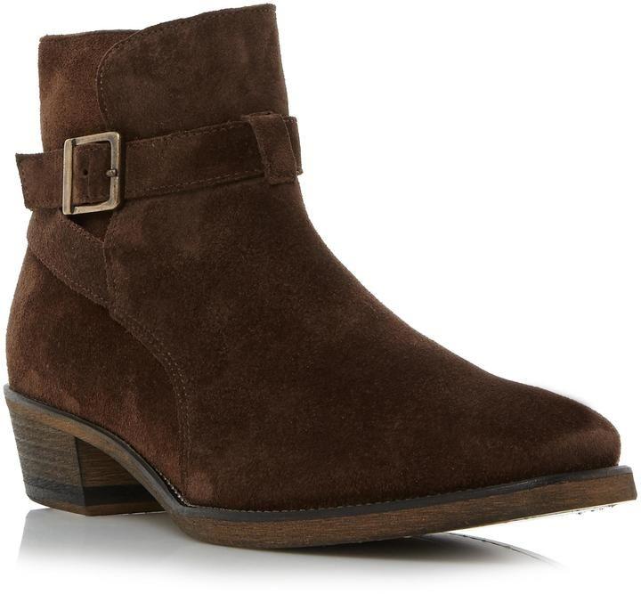 Bertie Mens CUBAA - DARK BROWN Buckle Detail Cuban Heel Boot