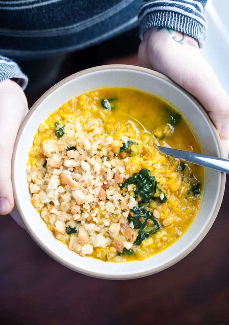 Healing Turmeric Soup with Lentil and Farro