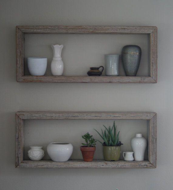 Rustic Wood Box Shelf