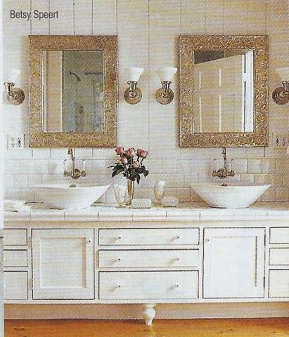 Country Cottage White Bathroom  pressed silver metal mirrors from Mexico 80 best bathroom ideas images on Pinterest   Bathroom ideas  Home  . Silver And White Bathroom Ideas. Home Design Ideas