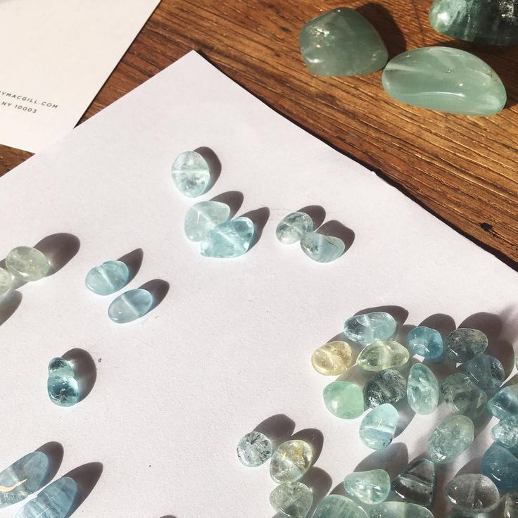 Matching aquamarine can only mean one thing... Spring is coming! #wishfulthinking #process #aquamarine-Mary MacGill Jewelry