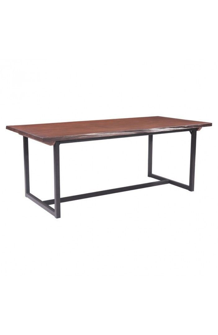 Add Depth And Dimension To Your Dining Room By Choosing This ZUO Papillion Distressed Cherry Oak Table