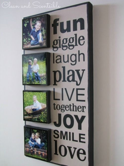 •❈• DIY Photo Canvas - stack smaller canvases on a larger one fro a more dramatic effect.              ♪ ♪    ... #inspiration_diy GB   http://www.pinterest.com/gigibrazil/boards/