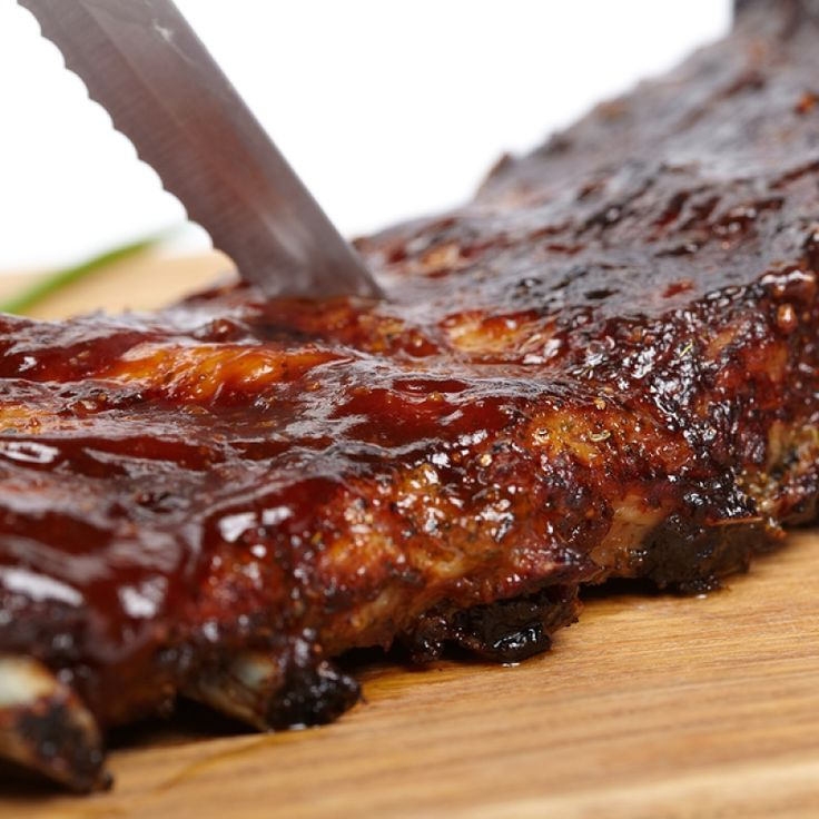 These oven baked barbecue ribs are tender and flavorful.. Oven Baked Barbecue Ribs  Recipe from Grandmothers Kitchen.