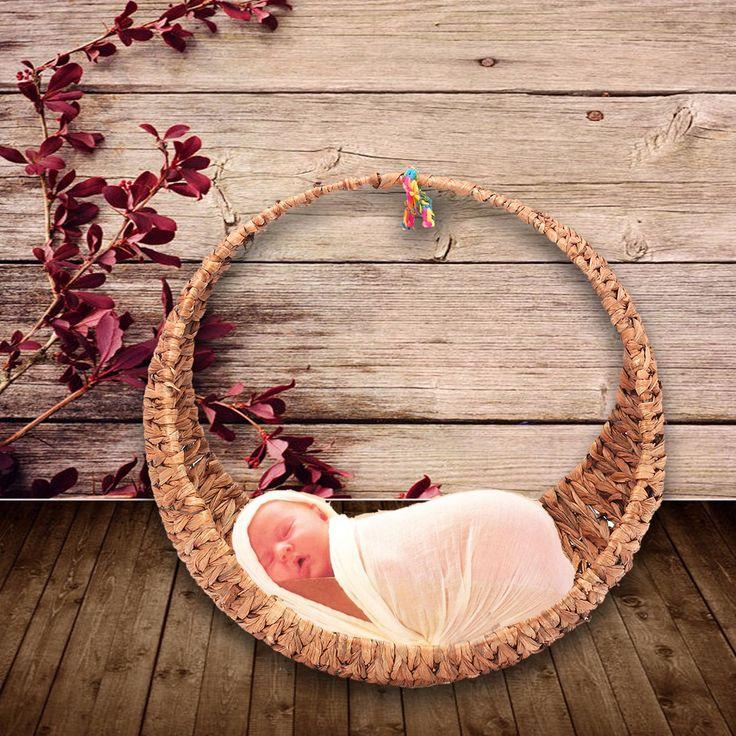 Ruige Creative Studio fotografie rekwisieten Hand-geweven manden voor pasgeboren baby