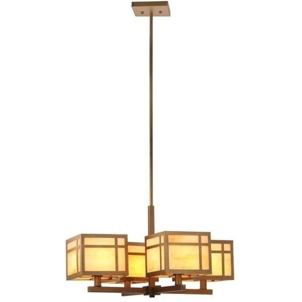 Safavieh Craftsman Chandelier ($224) ❤ liked on Polyvore featuring home, lighting, ceiling lights, gold finish, colored chandeliers, glass shade lamp, safavieh lamps, colored lights and craftsman style chandelier