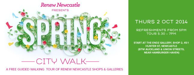 Spring-city-walk- who is coming along? #Newcastle #amazingtalent #bespokehunter