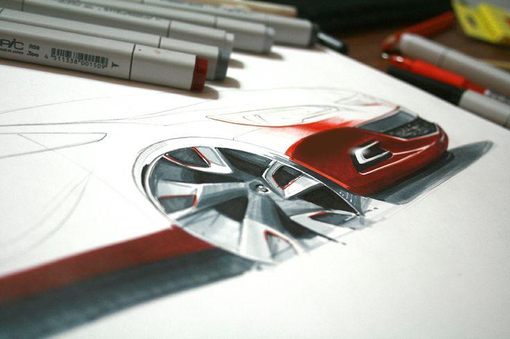 car sketch by Orhan Okay