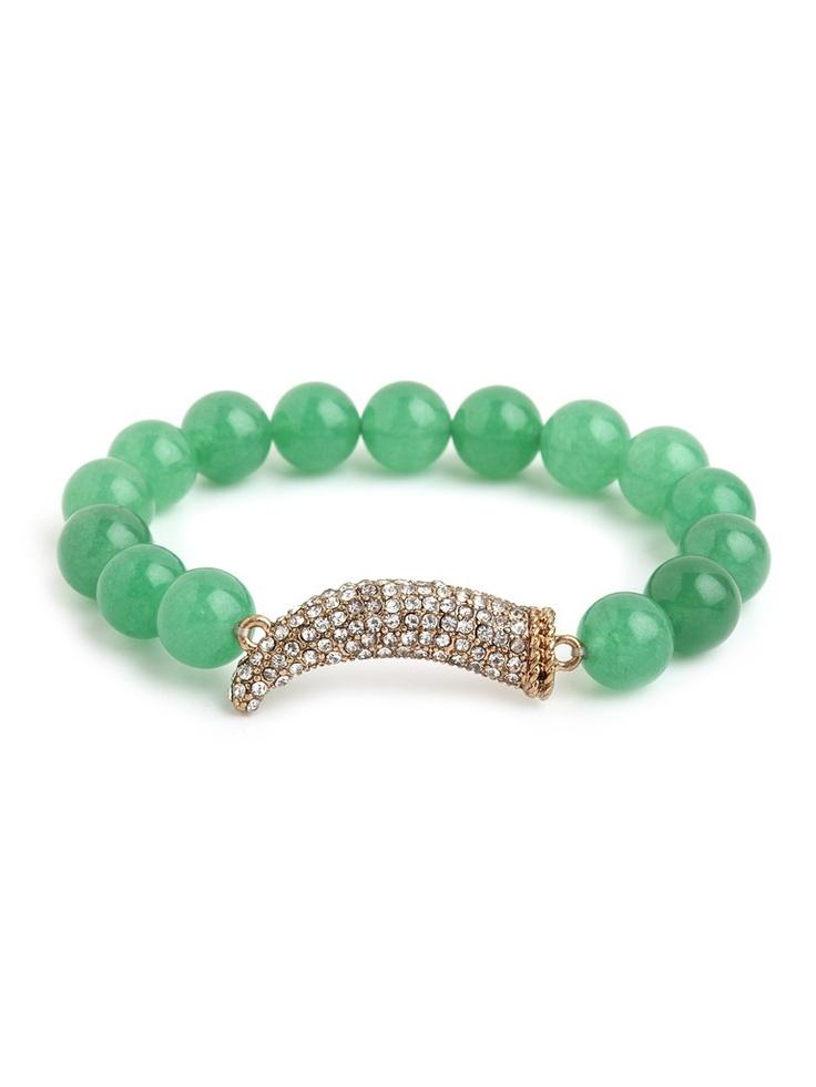 Jade horn bracelet: Bracelets Baubles, Baubles Bar, Bauble Bar, Baublebar, Horns Jade, Jade Bracelets, Pretty Jewelry, Horns Bracelets, Bling Bling