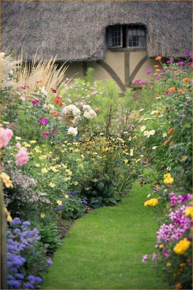 01 Stunning Cottage Garden Ideas for Front Yard Inspiration – Mimi