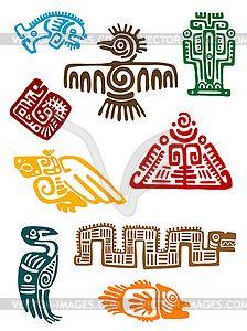 Древние майя монстров - стоковый векторный клипарт