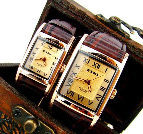 Eyki римские цифры часы старинные картины крокодила ремешок для часов элегантный любителей модные часы пара из 78