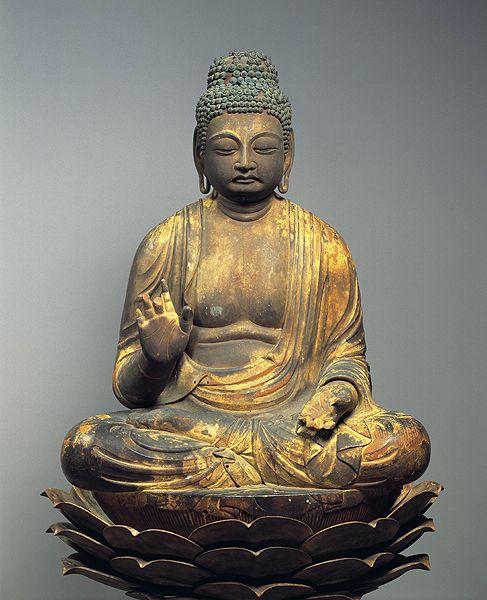 Japanese National Treasure,  The seated statue of Bhaisajyaguru (Yakushi Nyorai, the Healing Buddha) 薬師如来坐像(京都・若王子社)