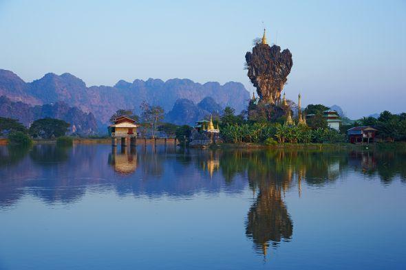 Wie aus einem Märchen: die Landschaft von Hpa An