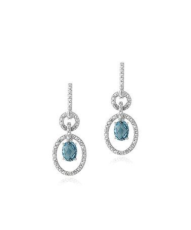 Look what I found on #zulily! London Blue Topaz & Diamond Oval Knot Drop Earrings #zulilyfinds