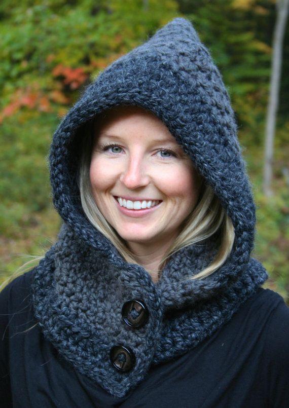 CROCHET PATTERN - Womens Hooded Cowl Crochet Pattern - Womens ...