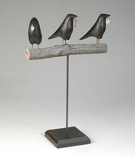 Beware of this and that.: Three Ravens, Crows Gathering, Mark Orr, Ravens Sculpture, 06 Art, 3D Art, 24C Crows, Orr Three, Art Folk