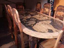 African Dining Room Set