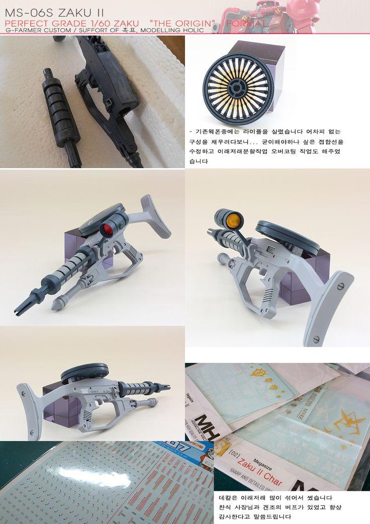 PG 1/60 Char's Zaku II The ORIGIN Format - Semi-Scratch Build     Modeled by G-Farmer