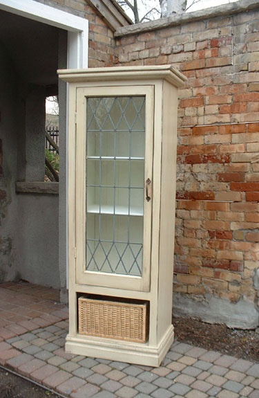 Love this China Cabinet with door made from antique window