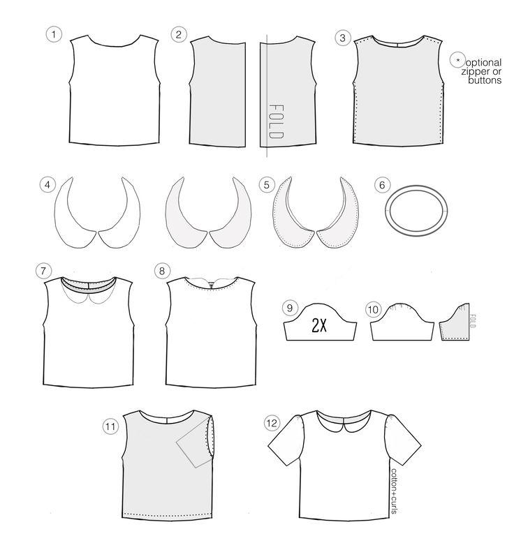 Best 25 peter pan collar top ideas on pinterest collar for Peter pan shirt pattern