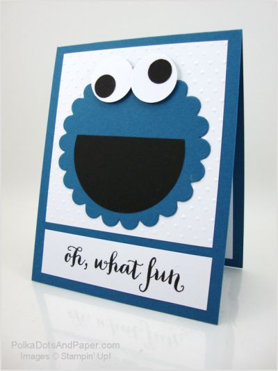 handmade greeting card ... huge punch art Elmo ...perfect for kids ...