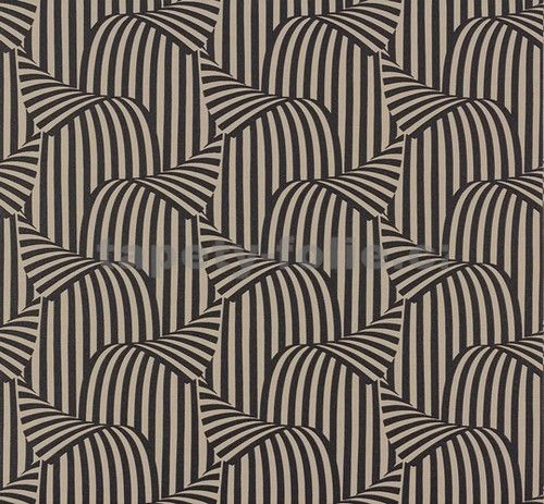 Vliesové tapety na zeď NENA 3D moderní vzor hnědo-černý -