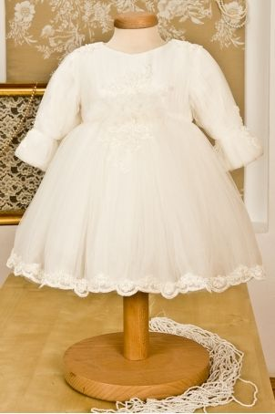 """Beautiful christening gown for cute little baby girls, """"Little Angel"""", from """"Grandma's Chest"""" collection.  http://www.petitecoco.ro/shop/en/tres-chic/43-little-angel-dress.html"""