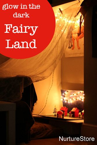 glow in the dark fairy land light table - gorgeous for imaginary play!