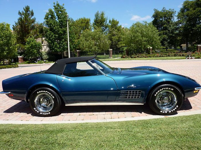 1970 Chevrolet Corvette 454 in Bridgehampton Blue paint