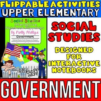 United States Government flippables for a Social Studies INTERACTIVE NOTEBOOK- incorporate these fun notebooking activities into your lessons. Before you read about this notebook, let me tell you about my SS interactive notebook bundle... I  am offering this notebook pack in a bundled pack with several of my other social studies notebook packs at a reduced price.