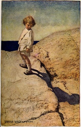 -Jessie Wilcox-Smith illustration of My Shadow by Robert Louis Stevenson in A…