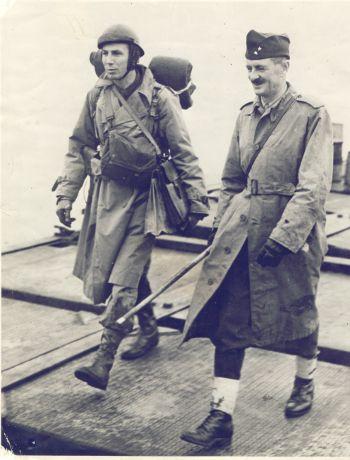 "General Leclerc arrives on ""Utah beach"""