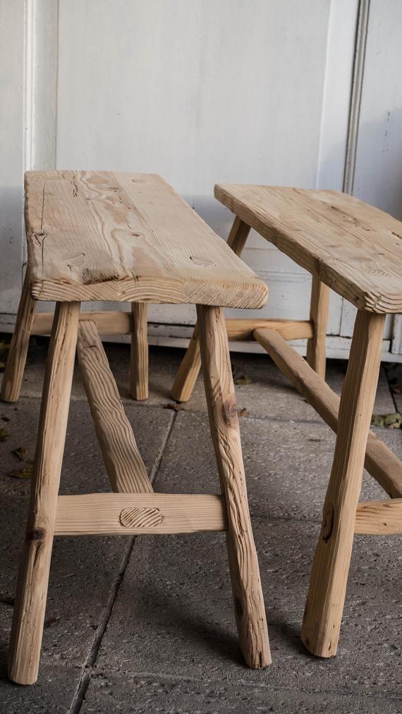 Handmade Wooden Bench Spruce Barn Wood Entryway Dining Room