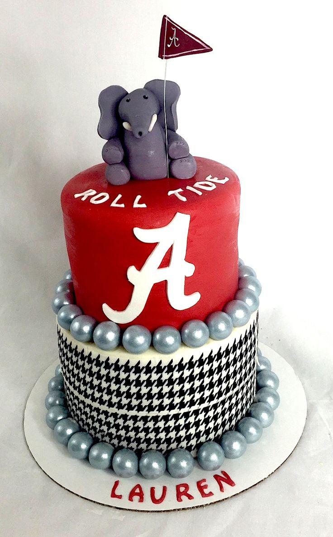 University of Alabama Birthday Cake #uofa #alabama #rolltide #elephant #football #crimson #football