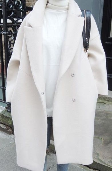 White oversized coat