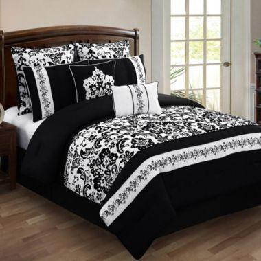 Alisia 8 Piece Comforter Set Jcpenney Black Amp White