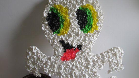 70s Popcorn Casper the Ghost vintage Halloween Decorations70's by ReVintageLannie #plasticpopcorndecorations #casper #ghost #halloween decorations #ghost decor #vintagehalloweendecor