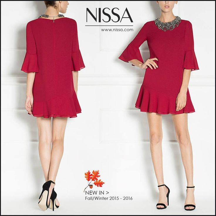 #nissa #cocktail #dress #newin #red #rochie #elegant #rosu #mini #look #style #fashion #fashionista  www.nissa.com