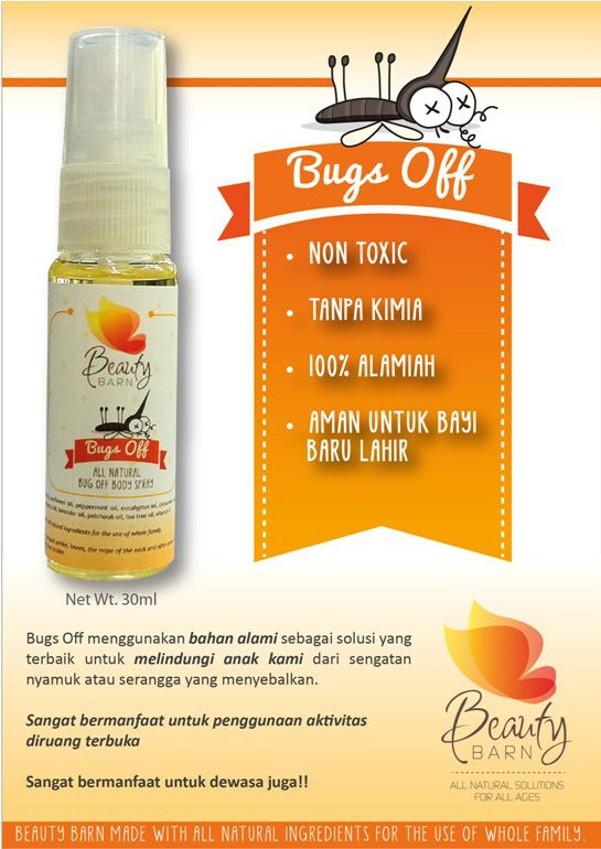 Beauty Barn Bugs Off Spray Pengusir Nyamuk