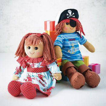 £16 Girls' Personalised Rag Doll